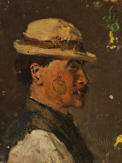 Ladislav Mednyánszky: Young Man in a White Hat (1880/1900)