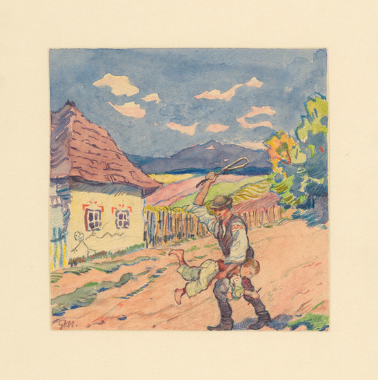 Gustáv Mallý: 9. - Payment for Painting White-Limed Cottage (1932/1932)