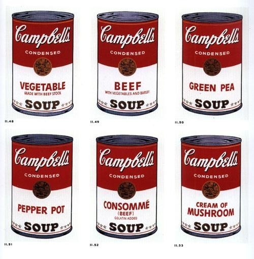 Andy Warhol: Zo série Campbellove polievky. 1968